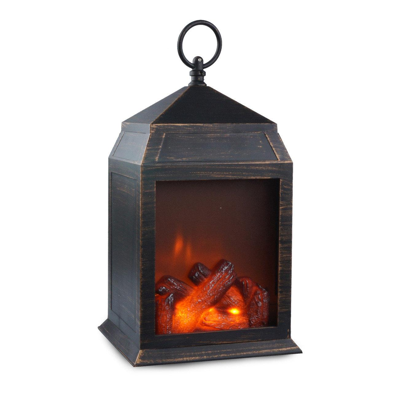 Фонарь-ночник с эффектом живого огня «Уют камина»