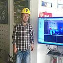 Смарт защитная каска со встроенной видеокамерой, LED фонарем, WiFi, фото 4