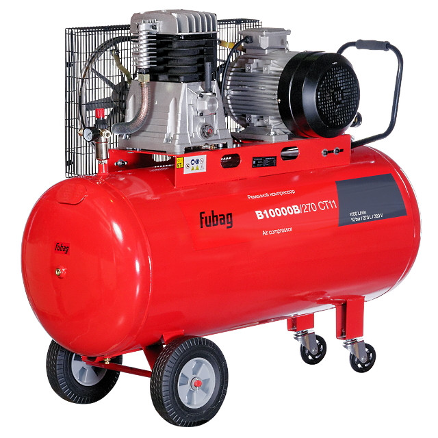 Компрессор ременной поршневой B10000B/270 CT11 1050 л/мин 270 л 10 бар 7,5 кВт