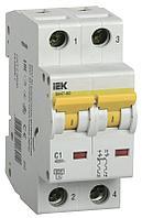 Автоматический выключатель ВА 47-60 2Р 20А 6 кА х-ка D IEK MVA41-2-020-D