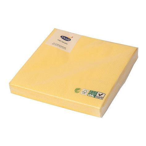 Салфетки 33х33см, 3 сл., жёлт., Бумага, 20 шт, фото 2