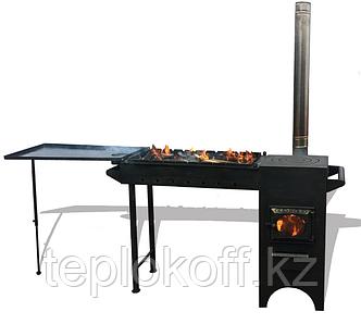 Печь казан-мангал Березка