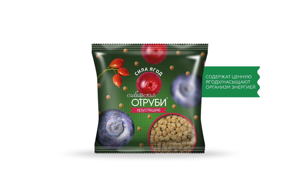 Отруби Сибирские, Сила ягод, пакет 100 гр