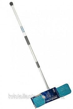Швабра бытовая с алюминиевой ручкой 1 насадка влажная Smart / Белый кот