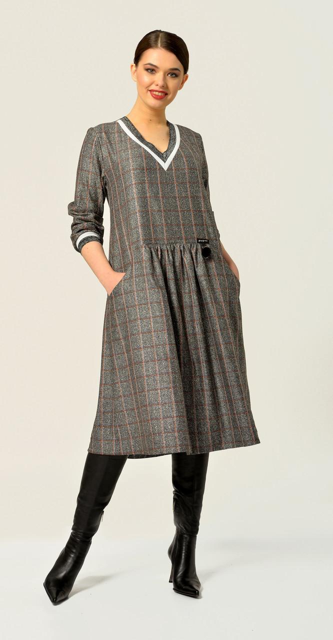 Платье Anna Majewska-А283 G, серый, 48