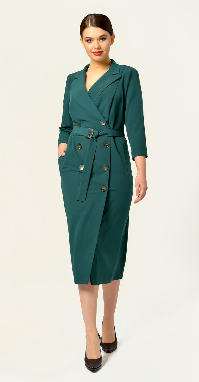 Платье Anna Majewska-А294, зеленый, 48
