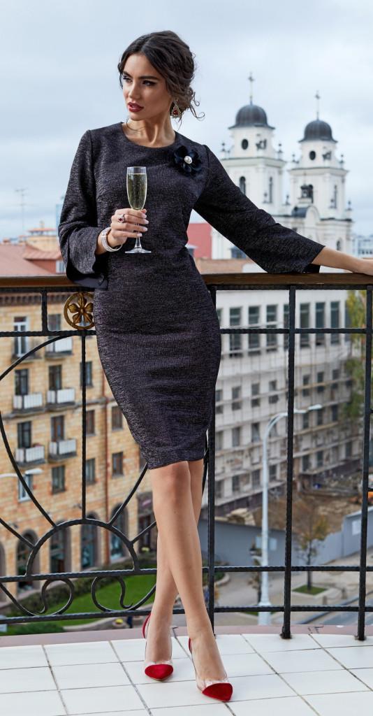 Платье Lissana-3858, черный, 48