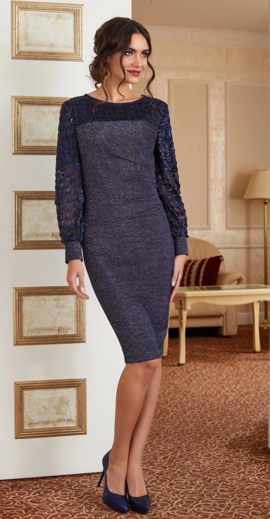Платье Lissana-3879, синий, 52