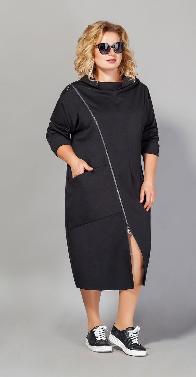 Платье Сч@стье-7020-1, черный, 44