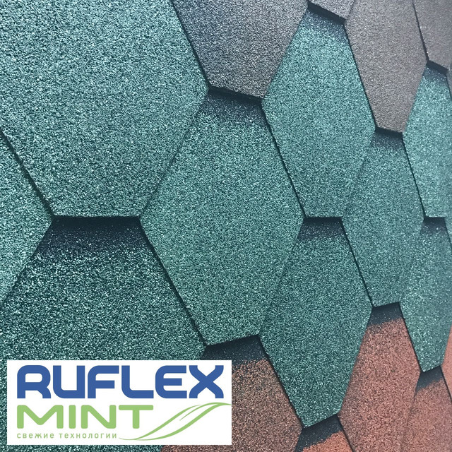 Гибкая черепица RUFLEX Mint (Стандарт)