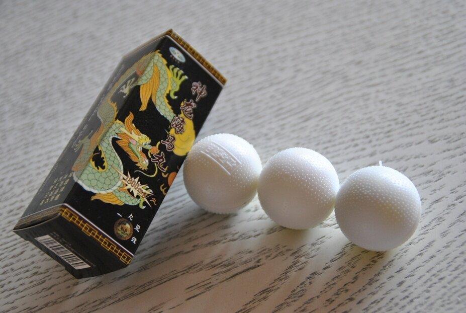 Возбудитель для мужчин Шэньлун с водорослями, 3 шарика