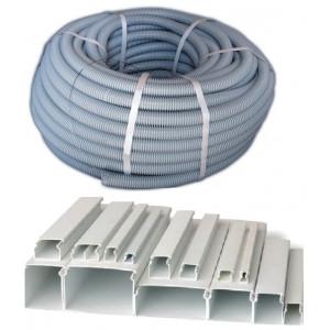 Гофрированные трубы,кабельные каналы и аксессуары
