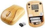 Беспроводная бамбуковая клавиатура + мышь, деревянная клавиатура из цельного бамбука, классическая, фото 4