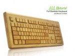 Беспроводная бамбуковая клавиатура + мышь, деревянная клавиатура из цельного бамбука, классическая, фото 5