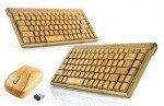 Беспроводная бамбуковая клавиатура + мышь, мини. Деревянная. Арт.1573, фото 2