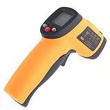 НЕ медицинский пирометр. Строительный инфракрасный измеритель температуры Benetech GM550 до 550°С Арт.4298, фото 2