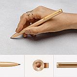 Гелевая ручка в золотистом корпусе, черная паста Xiaomi Mi Gel Pen Metal, Gold. Оригинал., фото 2