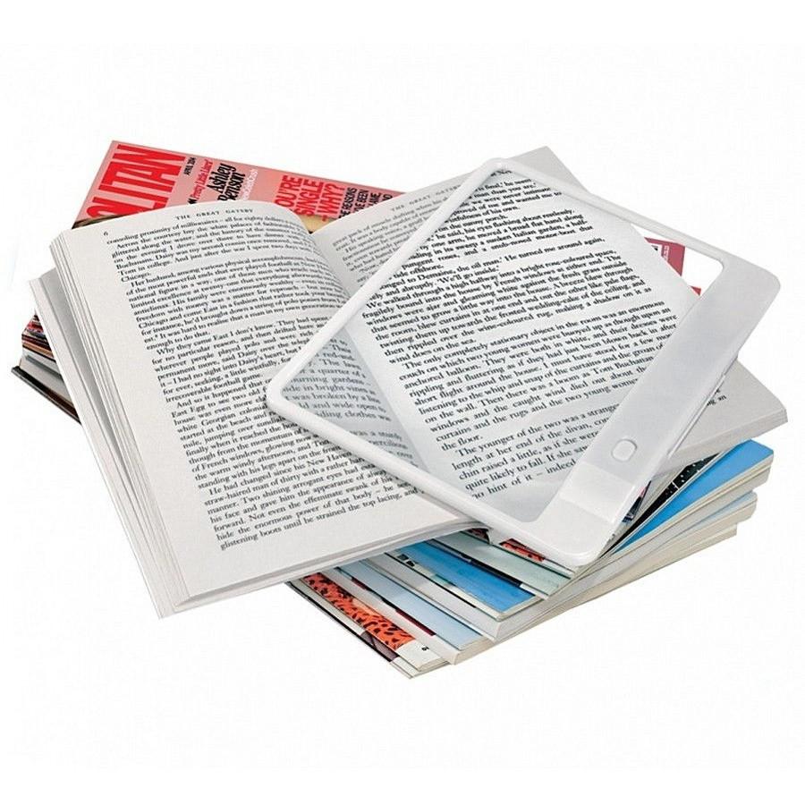 Увеличительная линза с подсветкой для чтения