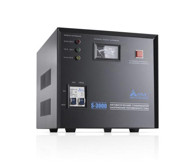 Стабилизатор напряжения (AVR), SVC, S-3000(2400Вт)