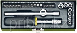 23072 Proxxon Набор головок и бит, 26 предметов