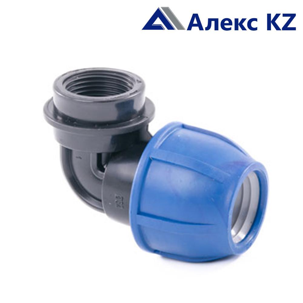 Отвод компрессионный внутр.резьба 20*1/2 PN 16 ПЭ/РТП