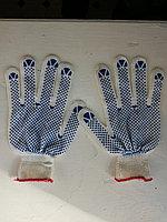 Перчатки ХБ с ПВХ покрытием, Перчатки рабочие с ПВХ.