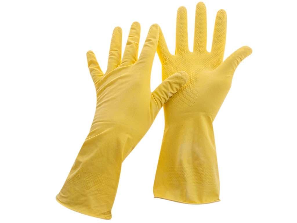 Перчатки резиновые OfficeClean, желтые, размер М