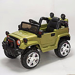 Электромобиль Jeep Wrangler FB-716 (EVA), хаки, фото 2