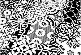 Ламинат Falquon Quadraic Black&White Q002