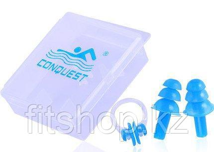 Беруши для бассейна в комплекте с зажимом для носа