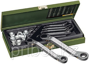 23231 Proxxon Набор накидных ключей с трещоткой, 6 шт. 6-19мм
