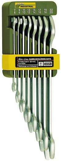 23800 Proxxon Набор рожковых ключей,  8 шт, 6-22мм