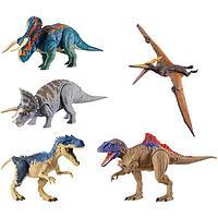 """Mattel Jurassic World Базовые фигурки динозавров """"Двойной удар"""" (в ассортименте)"""