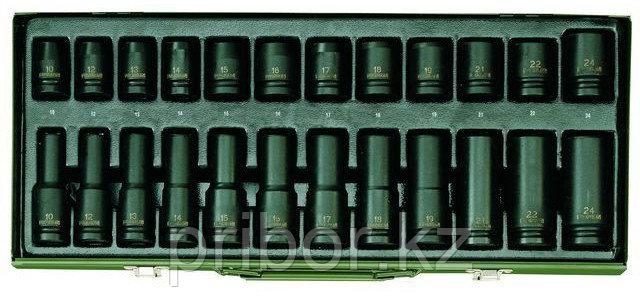 23942 Proxxon Набор головок для пневмоинструмента , 24 шт.