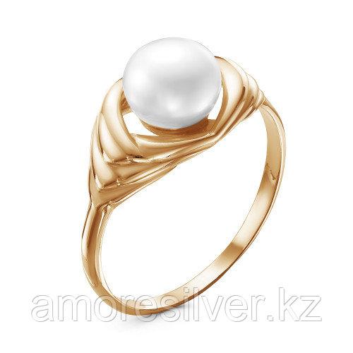 Кольцо Красная Пресня серебро с позолотой, жемчуг культ. 23310939