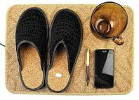 Коврик из ковролина с подогревом для сушки обуви и обогрева «Сухое Тепло» (55 х 85 см)