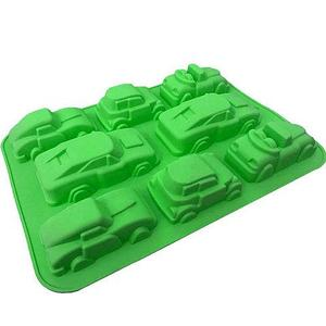 Силиконовая форма для выпечки и шоколада «Праздничные штучки» (Машинки)