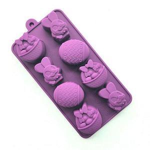 Силиконовая форма для выпечки и шоколада «Праздничные штучки» (Пасхальный кролик)