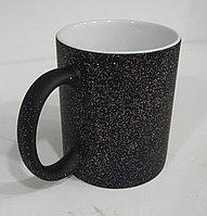 Кружка хамелеон (меняющая цвет) под сублимацию, черный перламутр, фото 1
