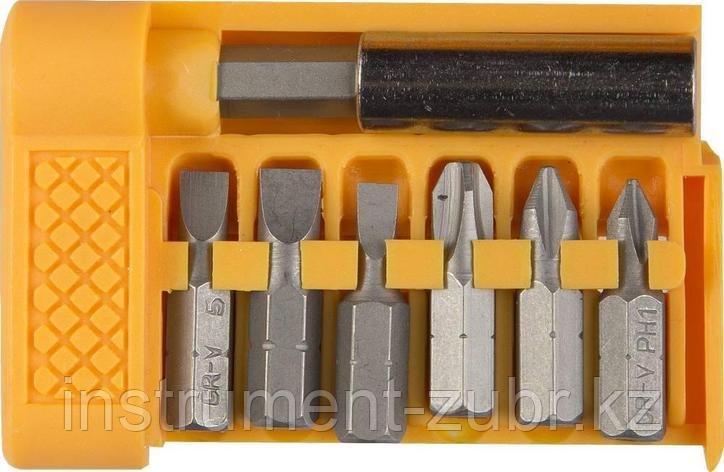 """Набор STAYER """"STANDARD"""" Биты с магнитным адаптером в плоском мини-боксе, 7 предметов, фото 2"""
