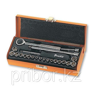 Pro`skit 8PK-SD016 Набор тонкостенных дюймовых и метрических головок, 18шт.