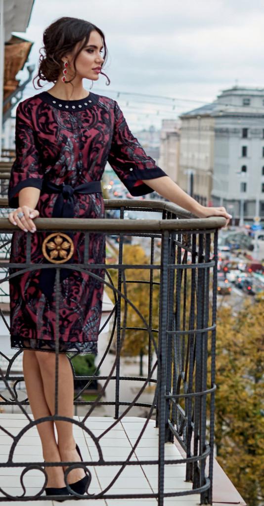 Платье Lissana-3864, с розовым, 50