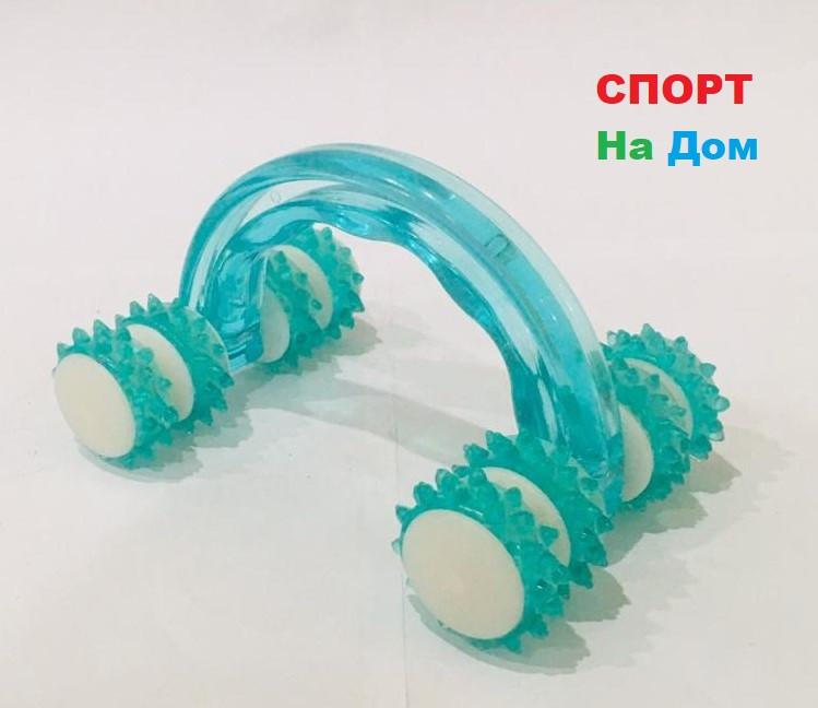 Роликовый ручной массажер для тела с контролем целлюлита Health Beauty Blue