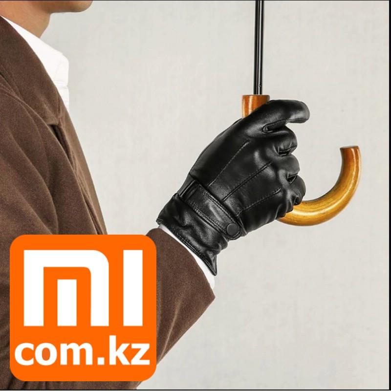 Мужские кожаные перчатки для сенсорных экранов Xiaomi Mi Touchscreen Leather Gloves. Оригинал. Арт.6005