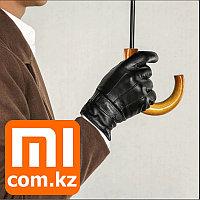 Мужские кожаные перчатки для сенсорных экранов Xiaomi Mi Touchscreen Leather Gloves. Оригинал.