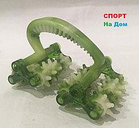 Роликовый ручной массажер для тела с контролем целлюлита (цвет зеленый)