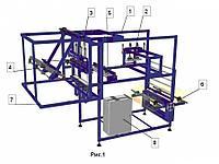Автомат для производства пакетов из многослойных барьерных пленок - вакуумных пакетов