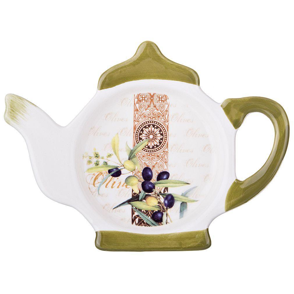 Подставка для чайного пакетика Agness «Оливки» (13×9×2 см)