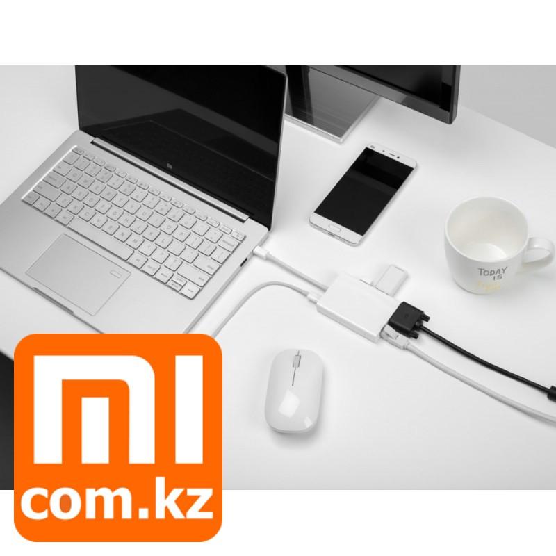 Адаптер (переходник) Xiaomi Mi USB type-C to VGA/USB/LAN. Конвертер. Оригинал.