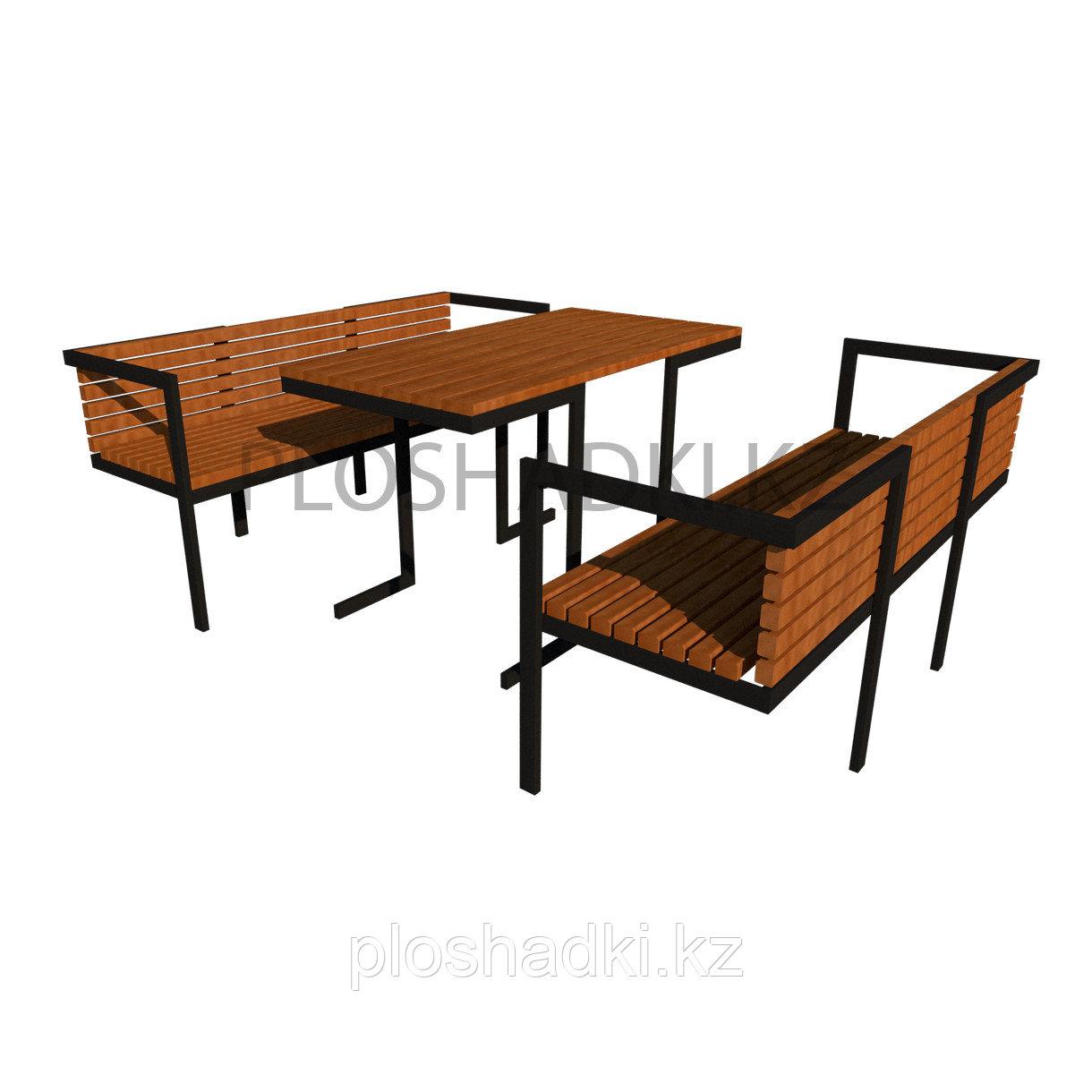 Лавочка со столом деревянная